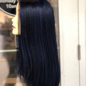 Accessories - Wig blue black lacefront wig this long middle part